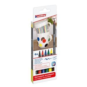 6 edding 4200 Porzellanstifte farbsortiert 1,0 - 4,0 cm 4-4200-6