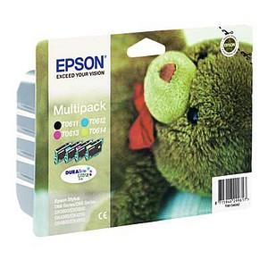 4 EPSON T0615 schwarz, cyan, magenta, gelb Tintenpatronen