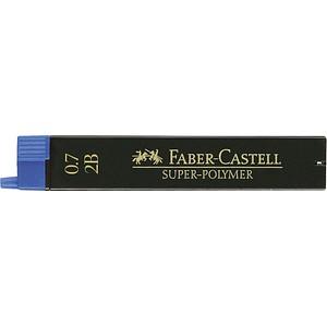 12 FABER-CASTELL SUPER-POLYMER Bleistiftminen 2B