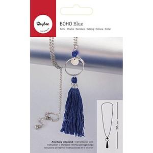 Rayher Schmuck-Basteln-Set Halskette Boho blau