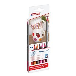 6 edding 4200 Porzellanstifte farbsortiert 1,0 - 4,0 cm 4-4200-6999