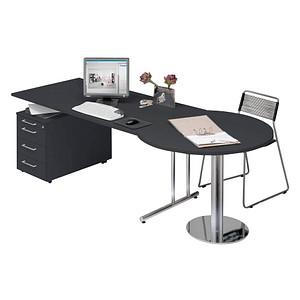Kerkmann Büromöbel-Set grau rechteckig