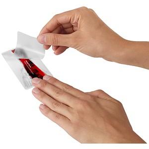 100 RENZ Laminierfolien glänzend für Kreditkartenformat