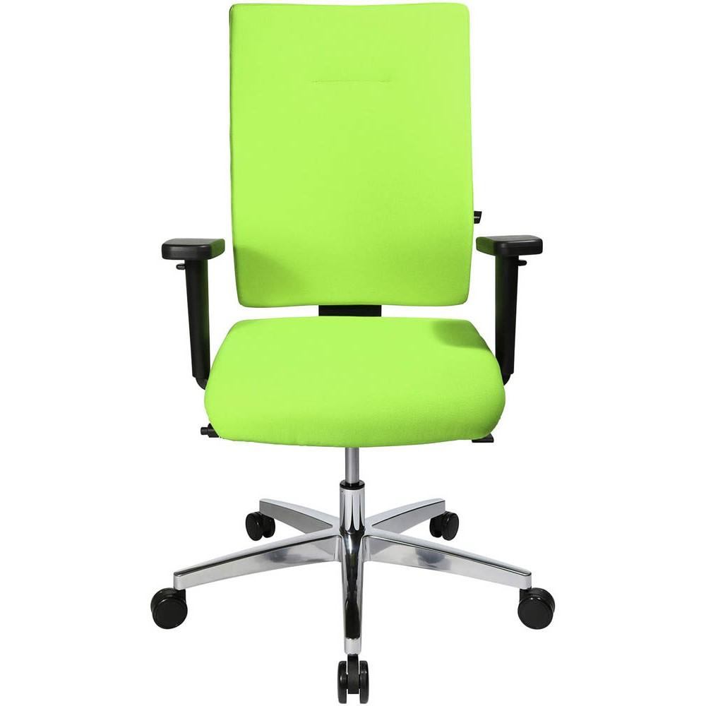 Bürostuhl mit apfelgrünem Stoffbezug