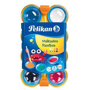Pelikan mini-friends Wasserfarbkasten Malkasten mit 8 Farben, Pinsel