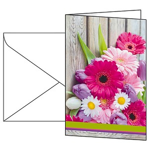 10 SIGEL Glückwunschkarten Colorful DS001