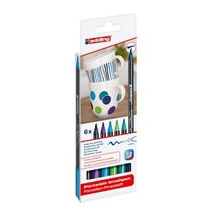 6 edding 4200 Porzellanstifte farbsortiert 1,0 - 4,0 cm 4-4200-6099