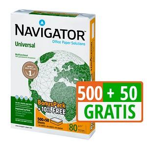 NAVIGATOR Kopierpapier Universal DIN A4 80 g/qm 550 Blatt