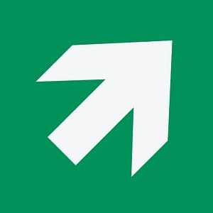Hinweisaufkleber - Richtungsangabe auf- bzw. abwärts