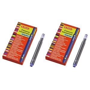 AKTION: 2x 5 herlitz Universaltintenpatronen Tintenpatronen für Füller blau 10412070