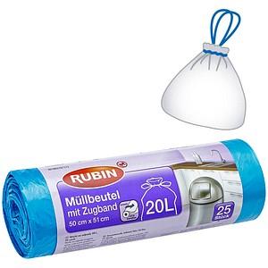 25 RUBIN Müllbeutel 20,0 l