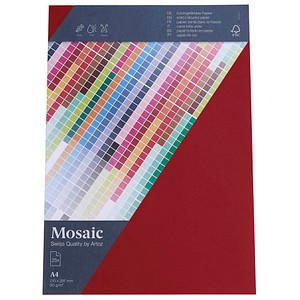 artoz Briefpapier Mosaic weinrot DIN A4 90 g/qm 25 Blatt 947925-487
