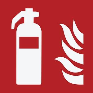 keine Marke Brandschutzaufkleber - Feuerlöschgerät