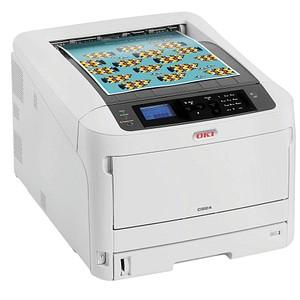 OKI C824n Farb-Laserdrucker grau