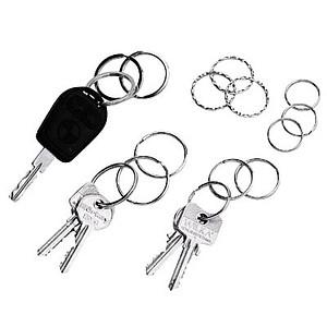 15 WEDO Schlüsselringe silber