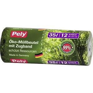Pely 12 Bio-Müllbeutel Öko-Müllbeutel 35,0 l