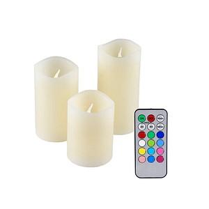 3 IOIO LED-Kerzen LED 48 RGB