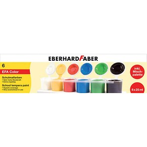EBERHARD FABER Schulmalfarben 6 x 25,0 ml