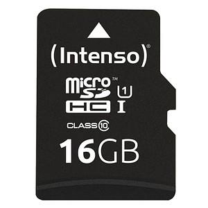 Intenso Speicherkarte microSDHC-Card PREMIUM 16 GB