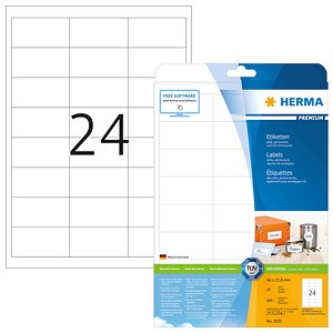 600 HERMA Etiketten 5053 weiß