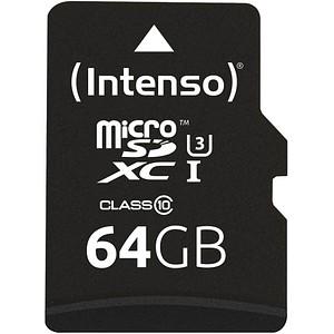 Intenso Speicherkarte microSDXC Professional 64 GB