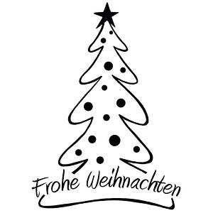 Rayher Frohe Weihnachten Motivstempel Weihnachtsbaum 2873800