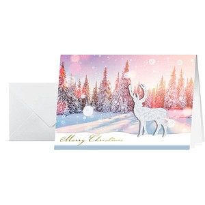 10 SIGEL Weihnachtskarten Snow Deer
