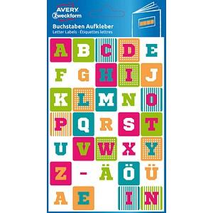70 AVERY Zweckform Klebebuchstaben 63002 Buchstaben A-Z