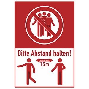 SafetyMarking® Hinweisaufkleber - Bitte mind. 1,5 m Abstand halten!
