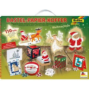 folia Bastelset Papier-Koffer Weihnachten 110-tlg.