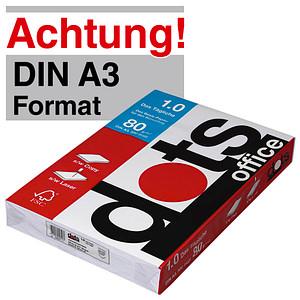 dots Kopierpapier office 1.0 DIN A3 80 g/qm 500 Blatt