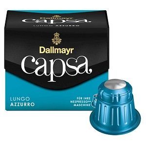 Dallmayr Kaffee Capsa LUNGO AZZURRO Kaffeekapseln 10 Portionen