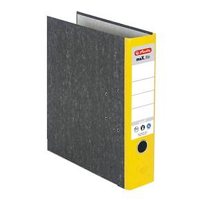 herlitz maX.file nature Ordner gelb marmoriert Karton 8,0 cm DIN A4