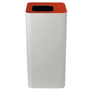 TKG Pure Mülleimer 100,0 l weiß, rot