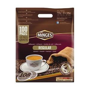 MINGES PREMIUM REGULAR Kaffeepads 108 Pads