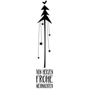 Rayher von Herzen frohe Weihnachten Motivstempel Weihnachtsbaum 29194000