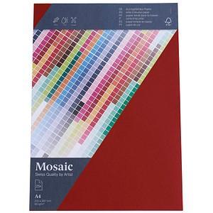 artoz Briefpapier Mosaic feuerrot DIN A4 90 g/qm 25 Blatt 947925-587