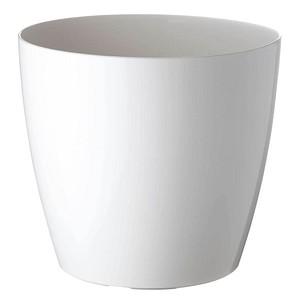 PAPERFLOW Übertopf Kunststoff 20,0 x 20,0 x 18,0 cm weiß