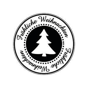 Rayher Fröhliche Weihnachten Motivstempel Weihnachtsbaum 28862000
