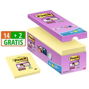 14 + 2 GRATIS: Post-it® Haftnotizen 654 gelb