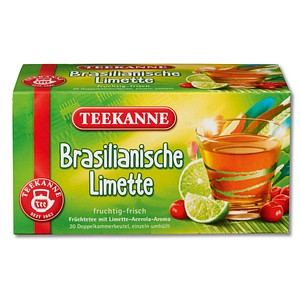 TEEKANNE Brasilianische Limette Tee 20 Teebeutel à 2,5 g
