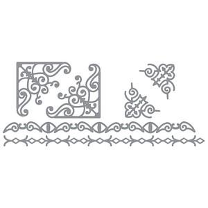 18 Rayher Klebemotive Bordüre silber 3004422