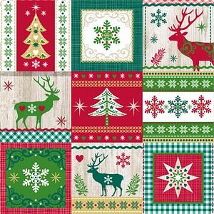 20 PAPSTAR Servietten Christmas Pattern