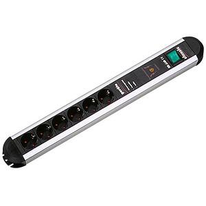 BACHMANN PRIMO 7-fach Steckdosenleiste mit Überspannungsschutz schwarz