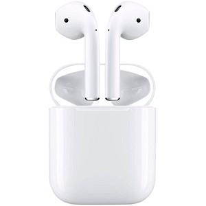 Apple AirPods 2. Gen. mit Wireless Charging Case In-Ear-Kopfhörer weiß MRXJ2ZM/A