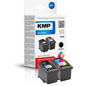 2 KMP C95V schwarz, color Druckköpfe ersetzen Canon PG-540/CL-541 1516,4850