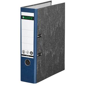 LEITZ 1080 Ordner blau marmoriert Karton 8,0 cm DIN A4