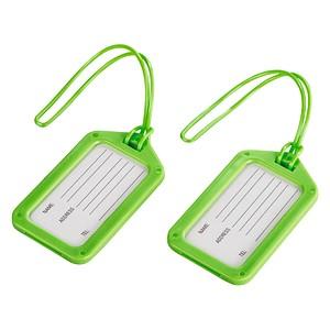 2 hama Gepäckanhänger grün