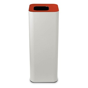 TKG Pure Mülleimer 60,0 l weiß, rot