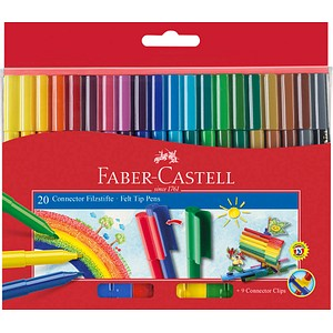 20 FABER-CASTELL Connector Filzstifte farbsortiert